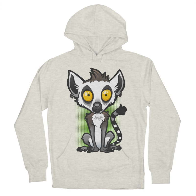 Ring-Tailed Lemur Women's French Terry Pullover Hoody by binarygod's Artist Shop