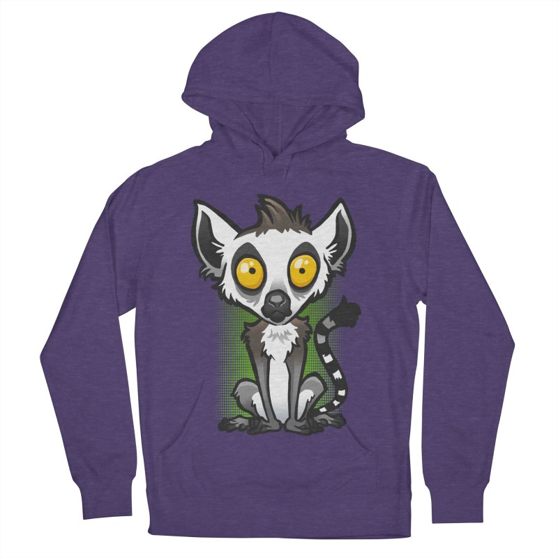 Ring-Tailed Lemur Men's French Terry Pullover Hoody by binarygod's Artist Shop