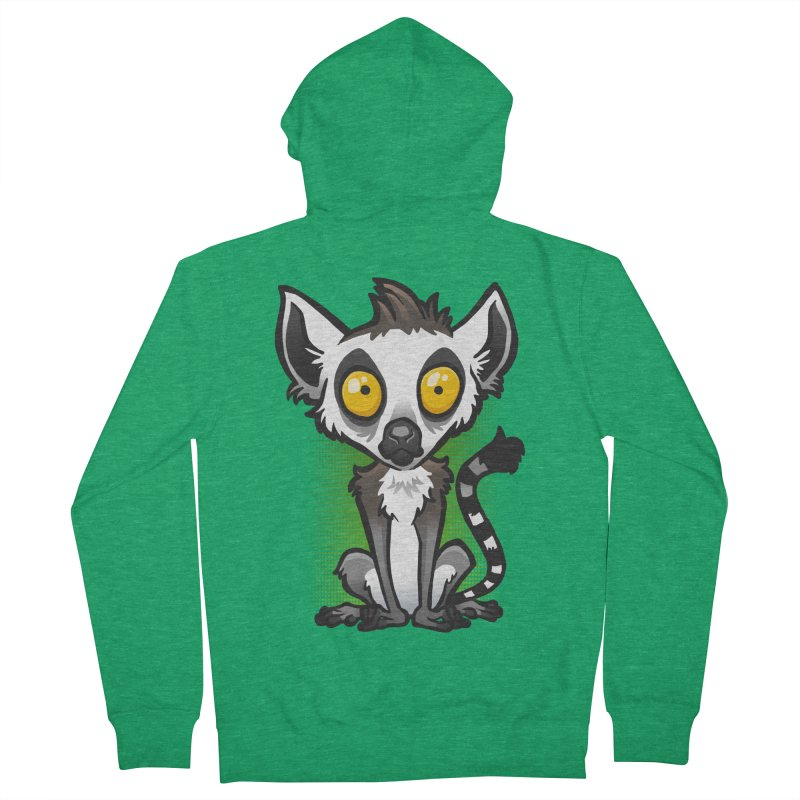 Ring-Tailed Lemur Women's Zip-Up Hoody by binarygod's Artist Shop