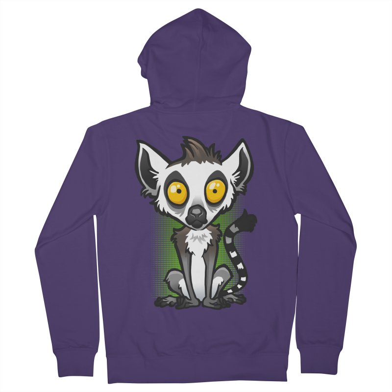 Ring-Tailed Lemur Women's French Terry Zip-Up Hoody by binarygod's Artist Shop