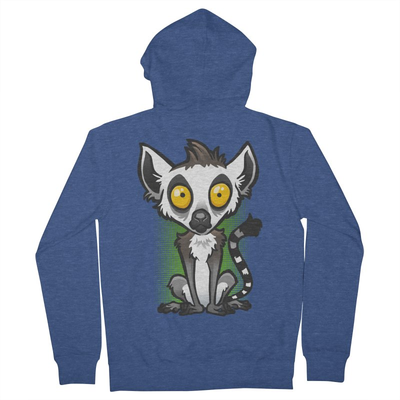 Ring-Tailed Lemur Men's Zip-Up Hoody by binarygod's Artist Shop