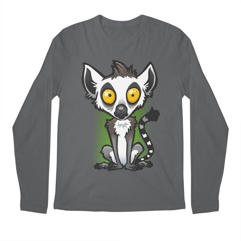 Ring-Tailed Lemur Men's Longsleeve T-Shirt by binarygod's Artist Shop