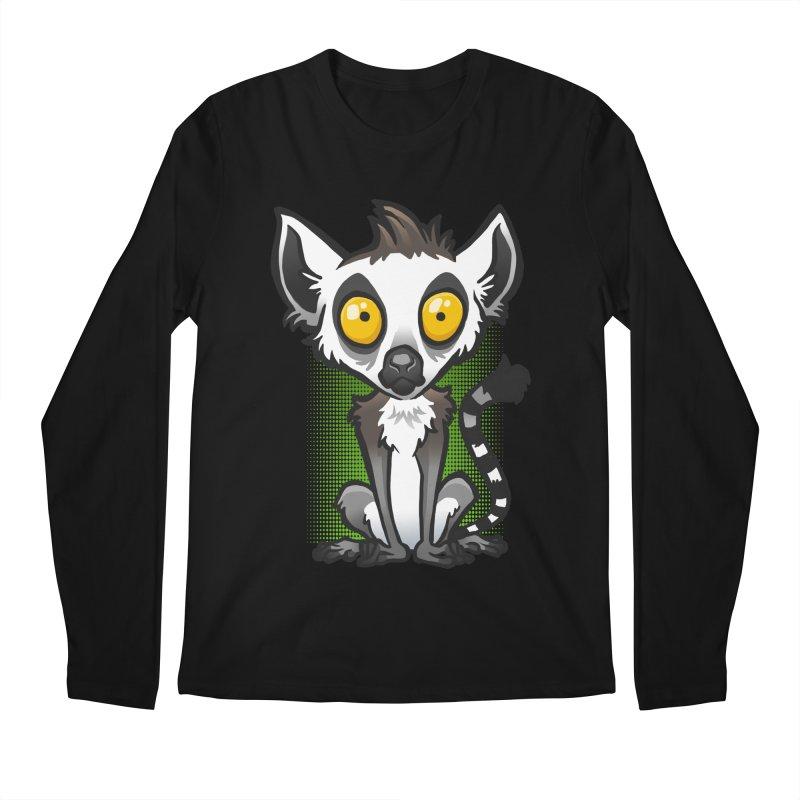 Ring-Tailed Lemur Men's Regular Longsleeve T-Shirt by binarygod's Artist Shop