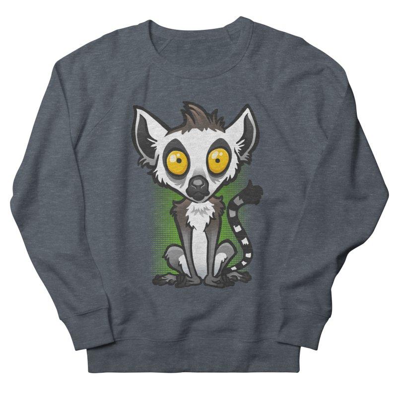 Ring-Tailed Lemur Women's French Terry Sweatshirt by binarygod's Artist Shop