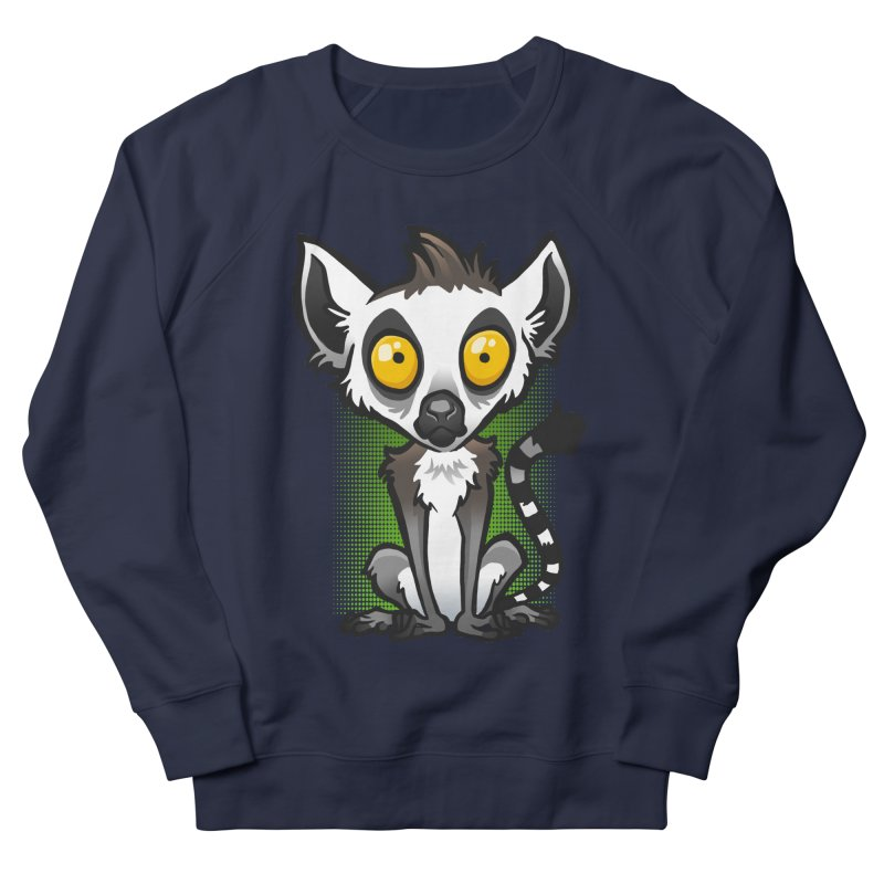Ring-Tailed Lemur Men's Sweatshirt by binarygod's Artist Shop