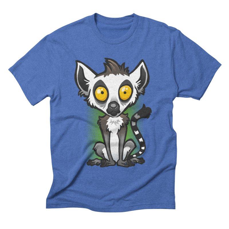 Ring-Tailed Lemur Men's Triblend T-Shirt by binarygod's Artist Shop