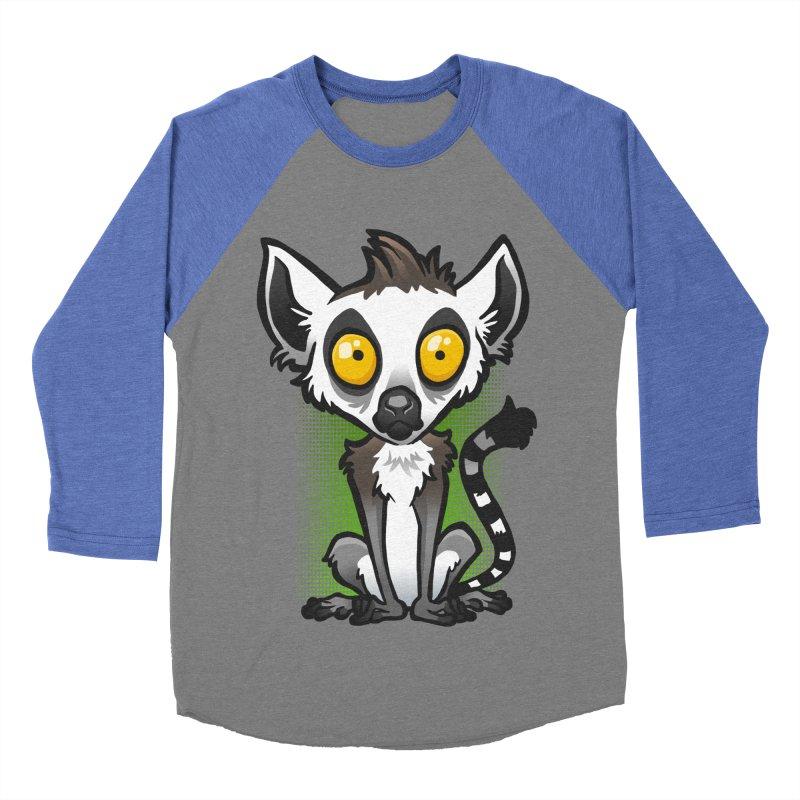 Ring-Tailed Lemur Men's Baseball Triblend T-Shirt by binarygod's Artist Shop