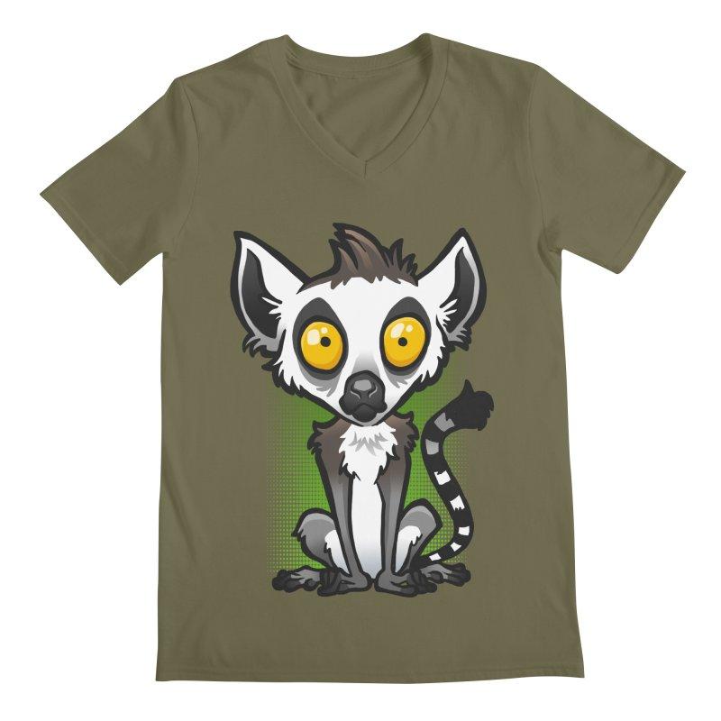 Ring-Tailed Lemur Men's V-Neck by binarygod's Artist Shop