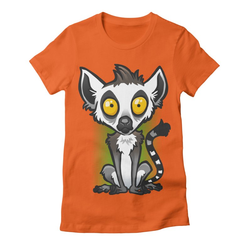 Ring-Tailed Lemur Women's Fitted T-Shirt by binarygod's Artist Shop