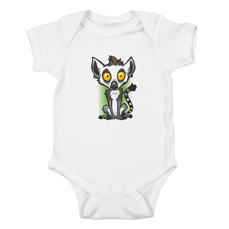 Ring-Tailed Lemur Kids Baby Bodysuit by binarygod's Artist Shop