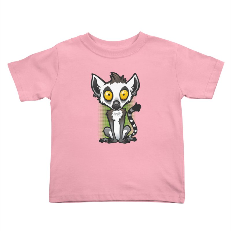 Ring-Tailed Lemur Kids Toddler T-Shirt by binarygod's Artist Shop