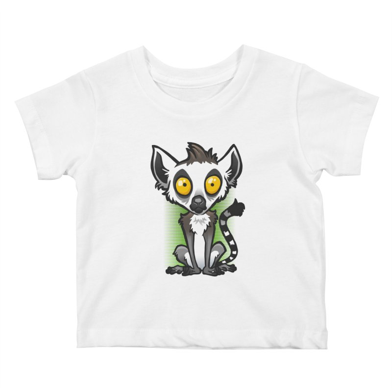 Ring-Tailed Lemur Kids Baby T-Shirt by binarygod's Artist Shop