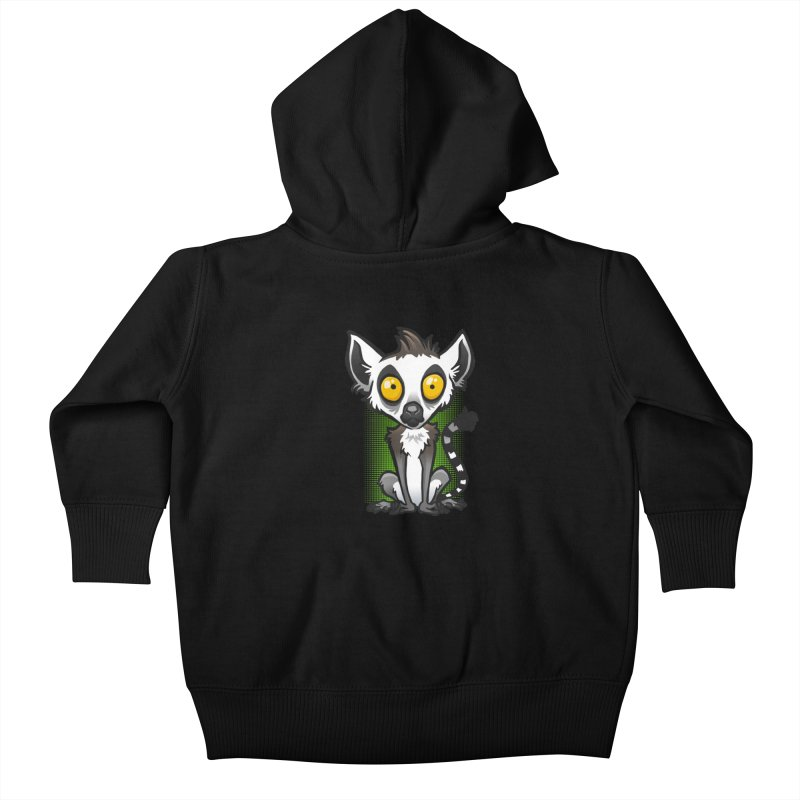 Ring-Tailed Lemur Kids Baby Zip-Up Hoody by binarygod's Artist Shop