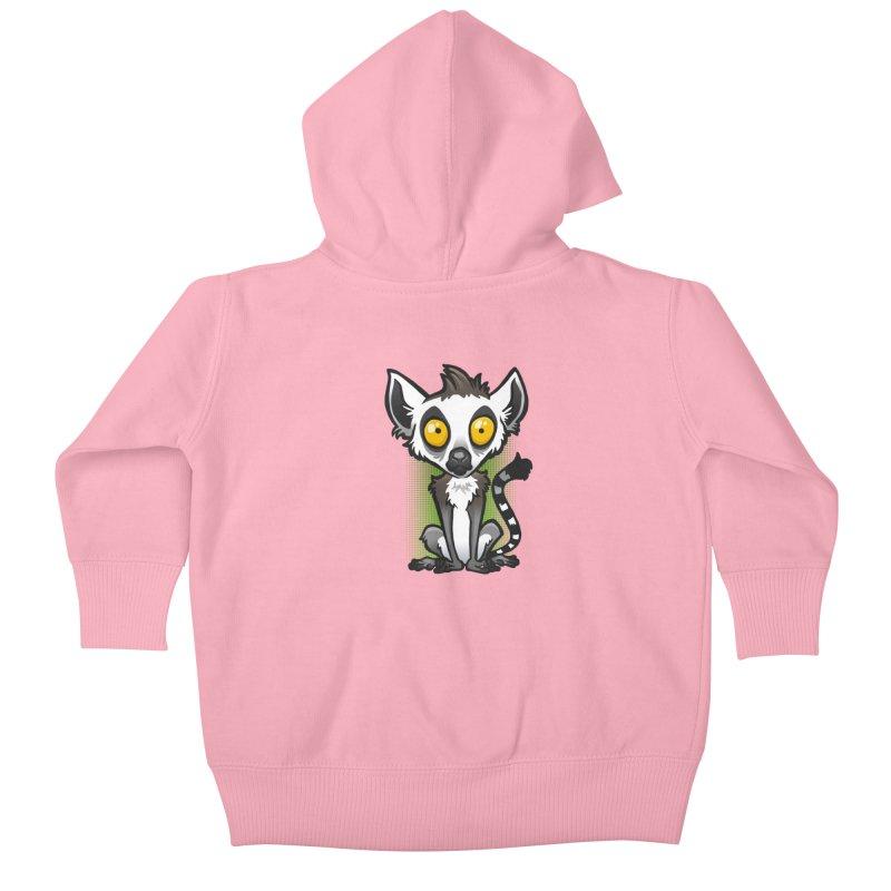 Ring-Tailed Lemur Kids Baby Zip-Up Hoody by binarygod's Artist Shop