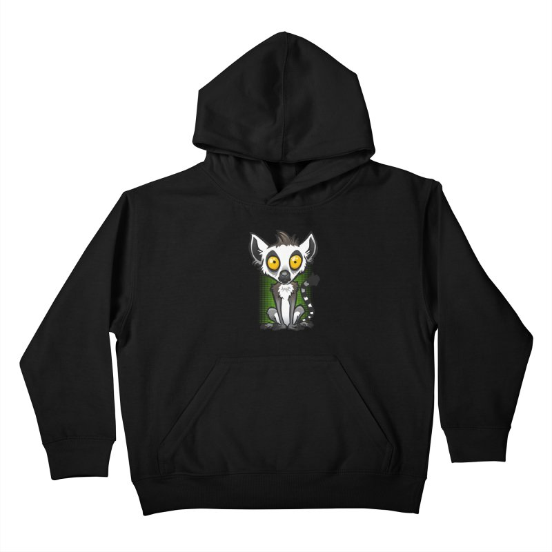 Ring-Tailed Lemur Kids Pullover Hoody by binarygod's Artist Shop