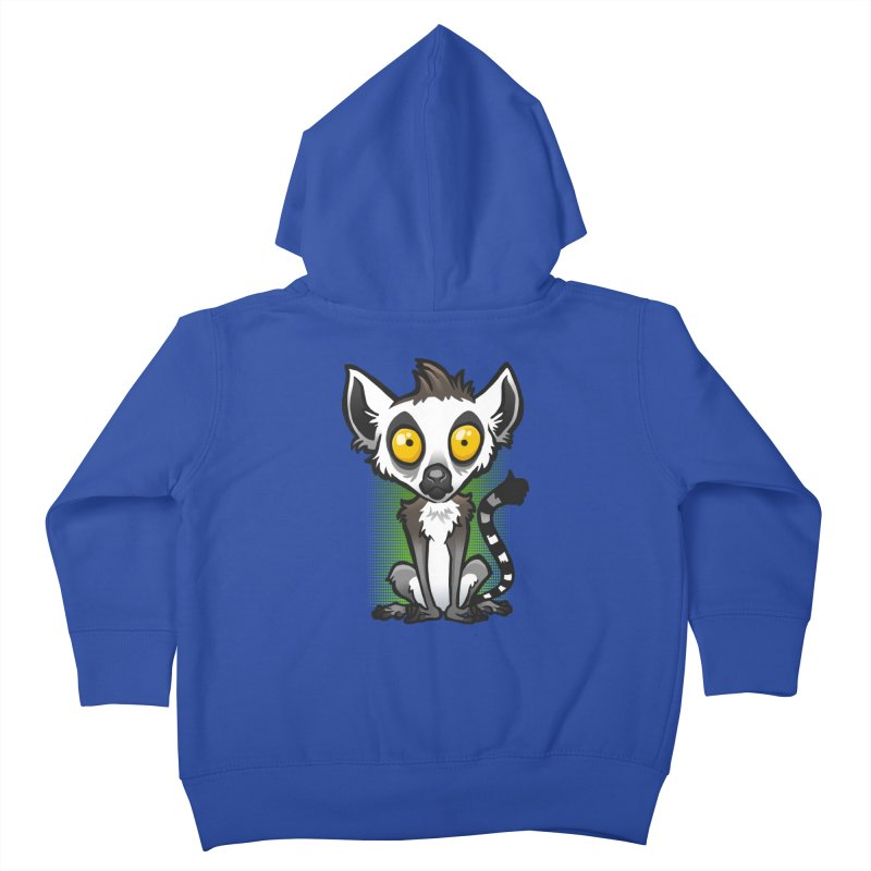 Ring-Tailed Lemur Kids Toddler Zip-Up Hoody by binarygod's Artist Shop