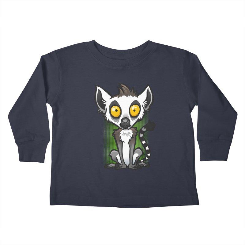 Ring-Tailed Lemur Kids Toddler Longsleeve T-Shirt by binarygod's Artist Shop