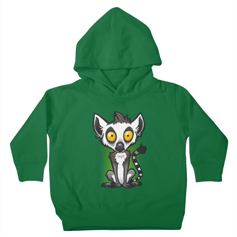 Ring-Tailed Lemur Kids Toddler Pullover Hoody by binarygod's Artist Shop