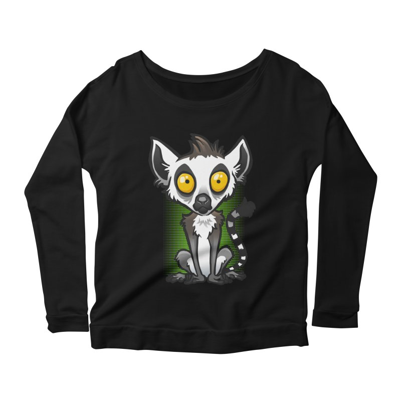 Ring-Tailed Lemur Women's Longsleeve Scoopneck  by binarygod's Artist Shop