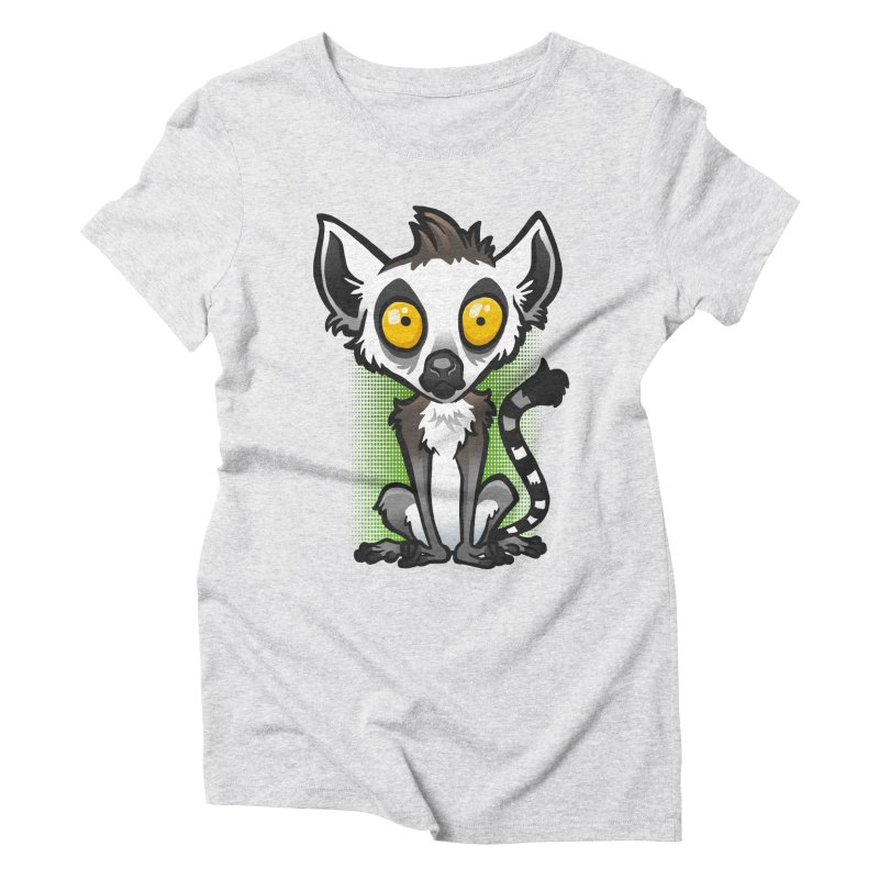 Ring-Tailed Lemur Women's Triblend T-Shirt by binarygod's Artist Shop
