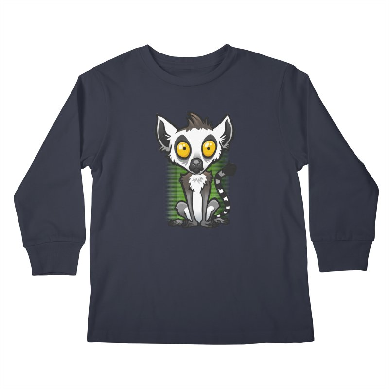 Ring-Tailed Lemur Kids Longsleeve T-Shirt by binarygod's Artist Shop