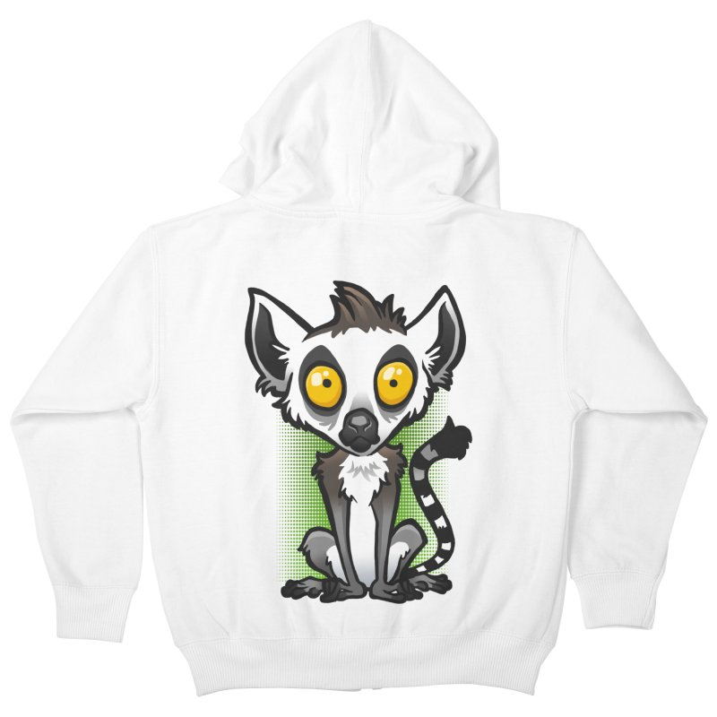 Ring-Tailed Lemur Kids Zip-Up Hoody by binarygod's Artist Shop