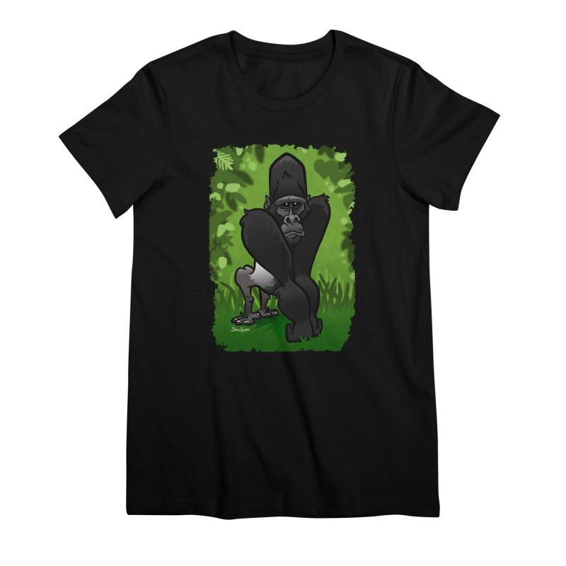 Silverback Gorilla Women's Premium T-Shirt by binarygod's Artist Shop