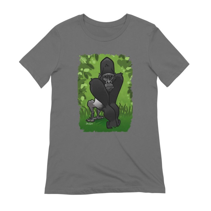 Silverback Gorilla Women's Extra Soft T-Shirt by binarygod's Artist Shop