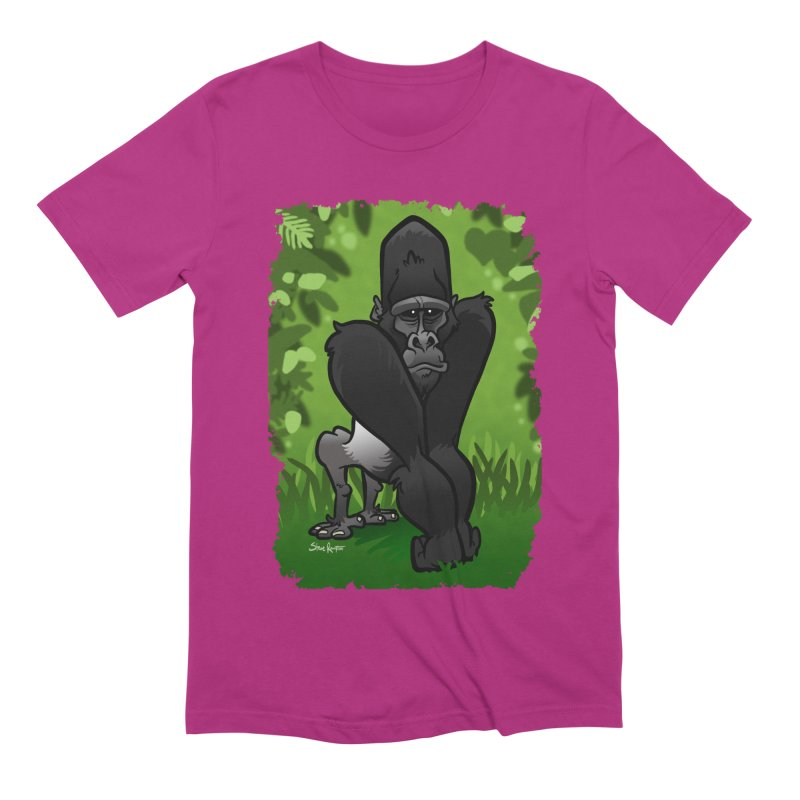 Silverback Gorilla Men's Extra Soft T-Shirt by binarygod's Artist Shop