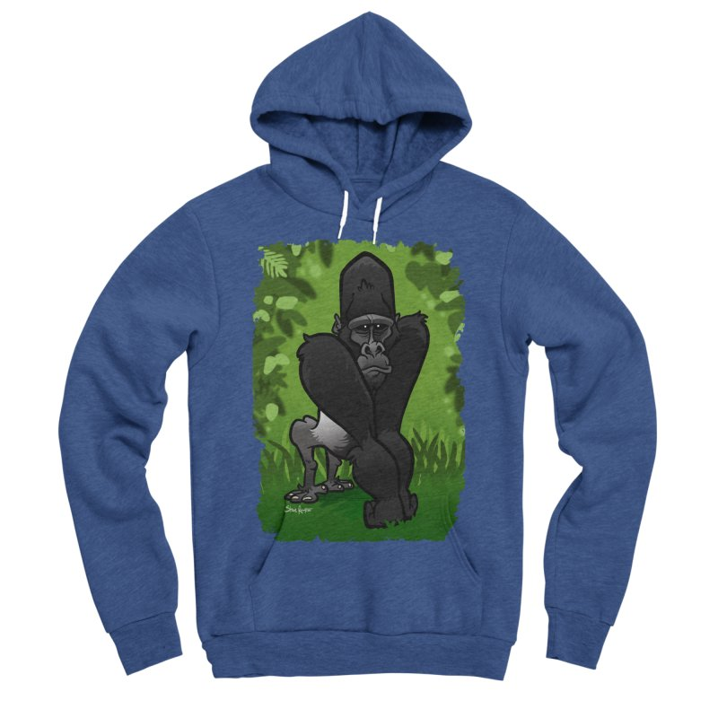 Silverback Gorilla Men's Sponge Fleece Pullover Hoody by binarygod's Artist Shop