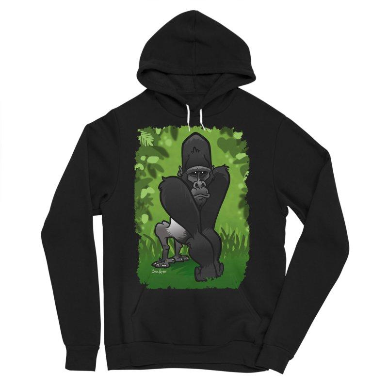 Silverback Gorilla Men's Sponge Fleece Pullover Hoody by binarygod's Artist Shop