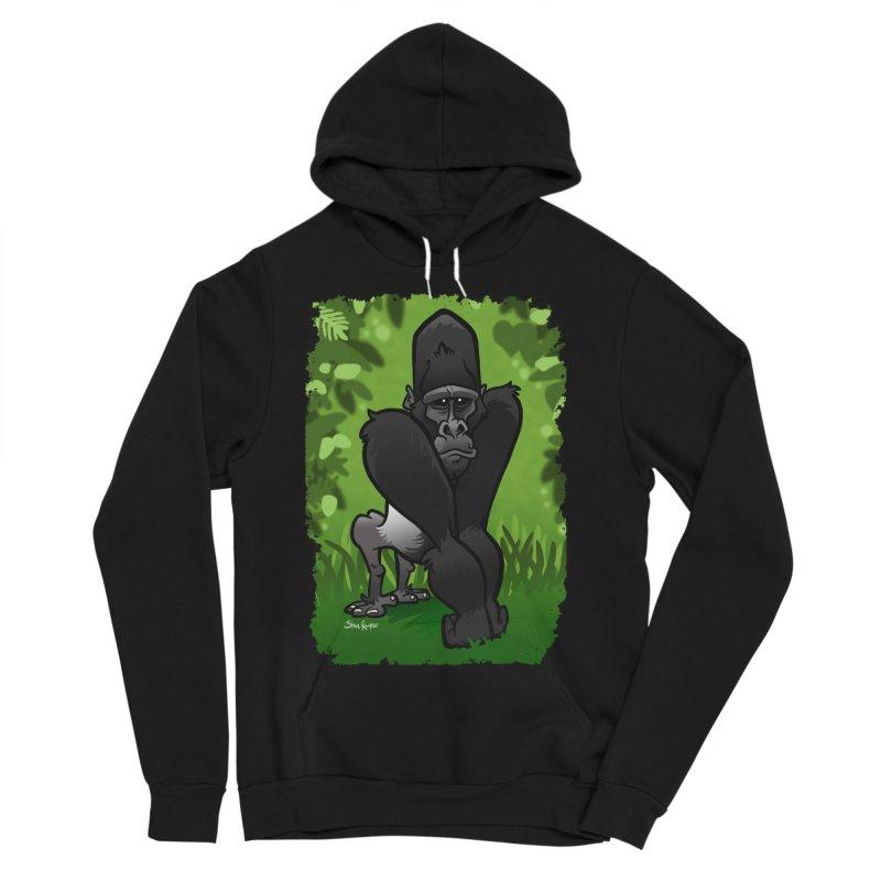 Silverback Gorilla Women's Sponge Fleece Pullover Hoody by binarygod's Artist Shop