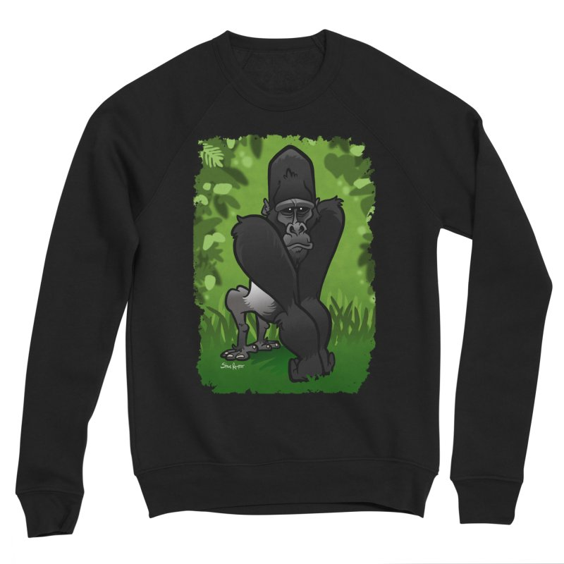 Silverback Gorilla Men's Sponge Fleece Sweatshirt by binarygod's Artist Shop