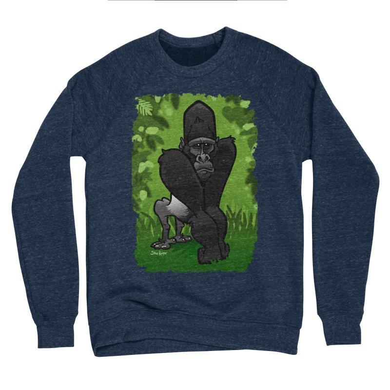 Silverback Gorilla Women's Sponge Fleece Sweatshirt by binarygod's Artist Shop