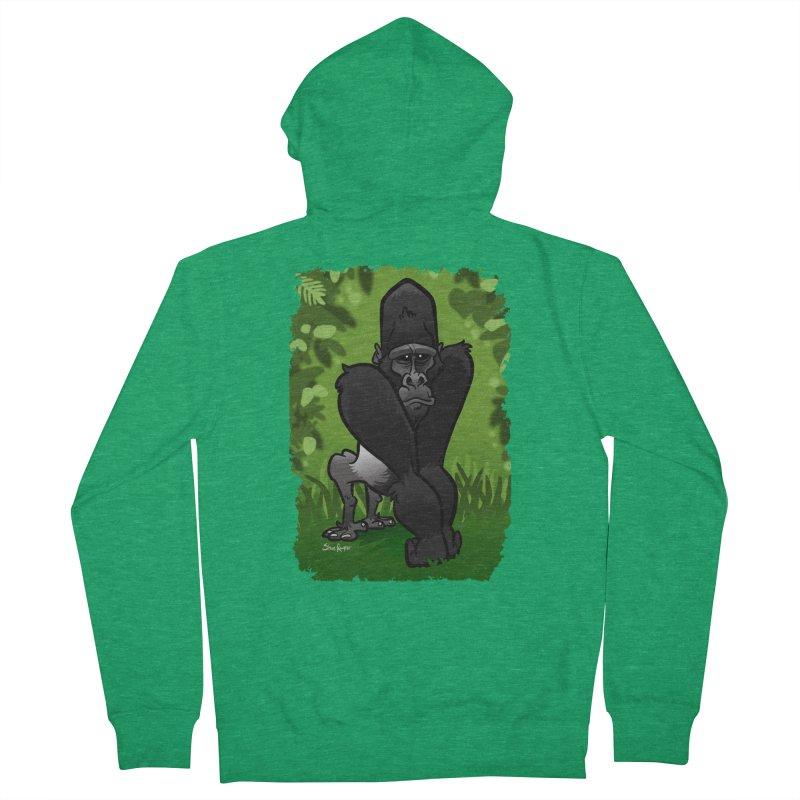 Silverback Gorilla Men's Zip-Up Hoody by binarygod's Artist Shop