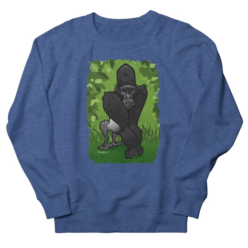 Silverback Gorilla Men's Sweatshirt by binarygod's Artist Shop