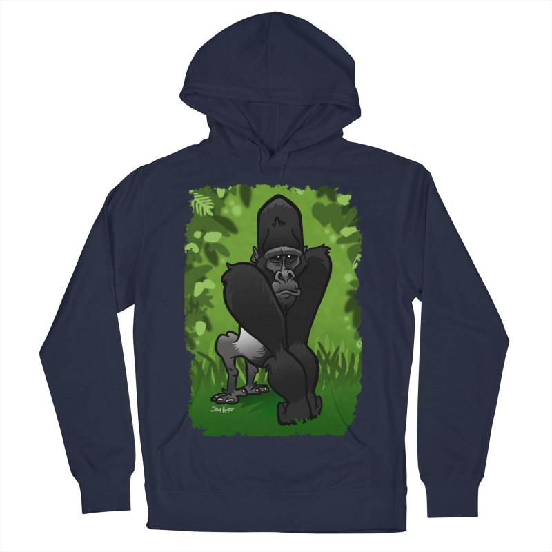 Silverback Gorilla Men's French Terry Pullover Hoody by binarygod's Artist Shop