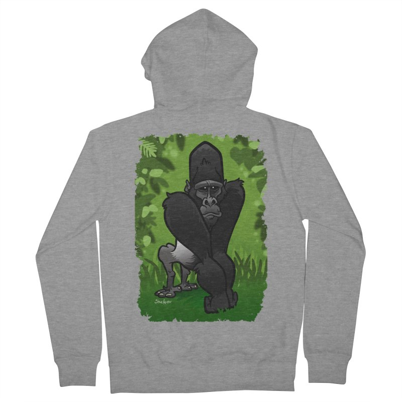 Silverback Gorilla Men's French Terry Zip-Up Hoody by binarygod's Artist Shop