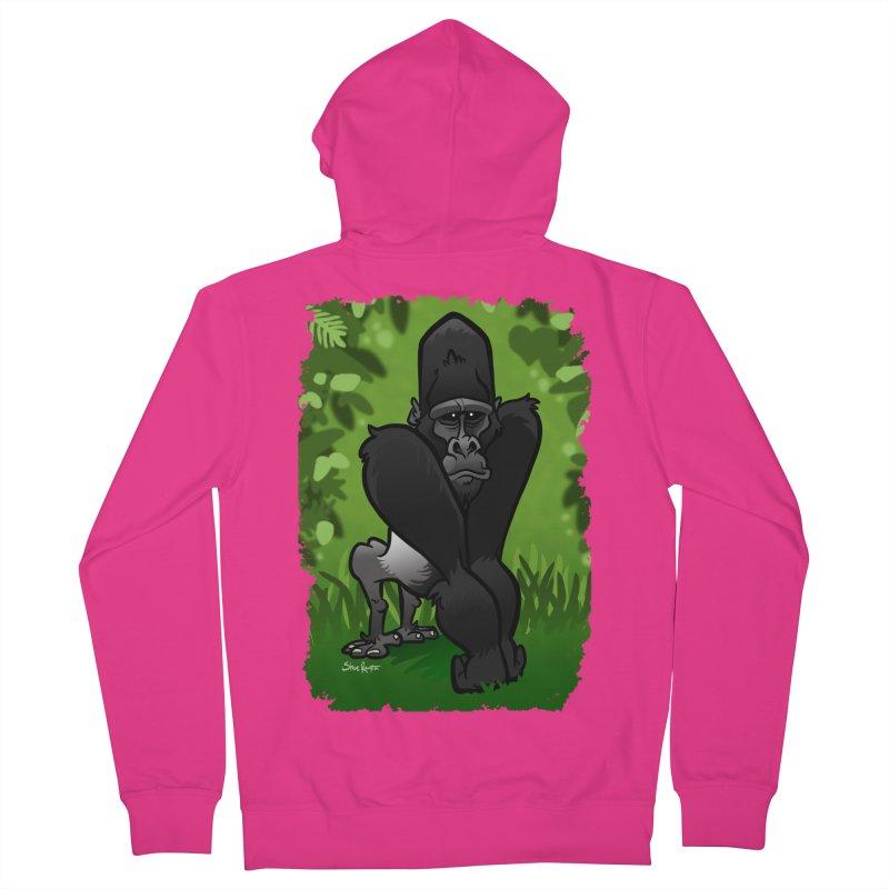 Silverback Gorilla Men's French Terry Zip-Up Hoody by binarygod's Artist Shop