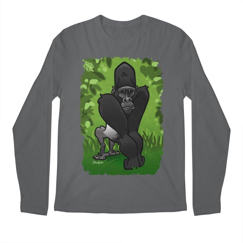 Silverback Gorilla Men's Regular Longsleeve T-Shirt by binarygod's Artist Shop