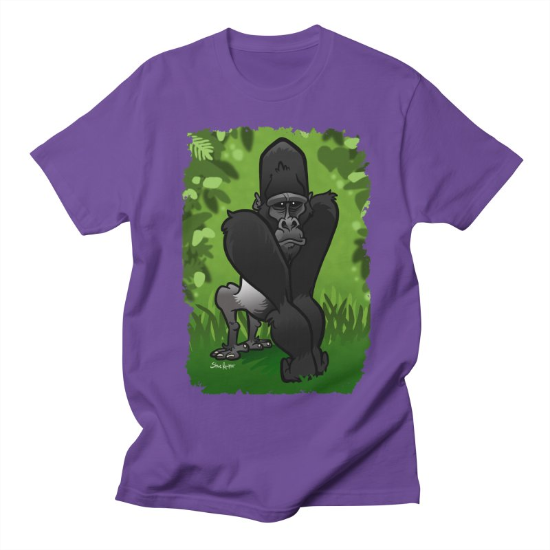Silverback Gorilla Men's Regular T-Shirt by binarygod's Artist Shop