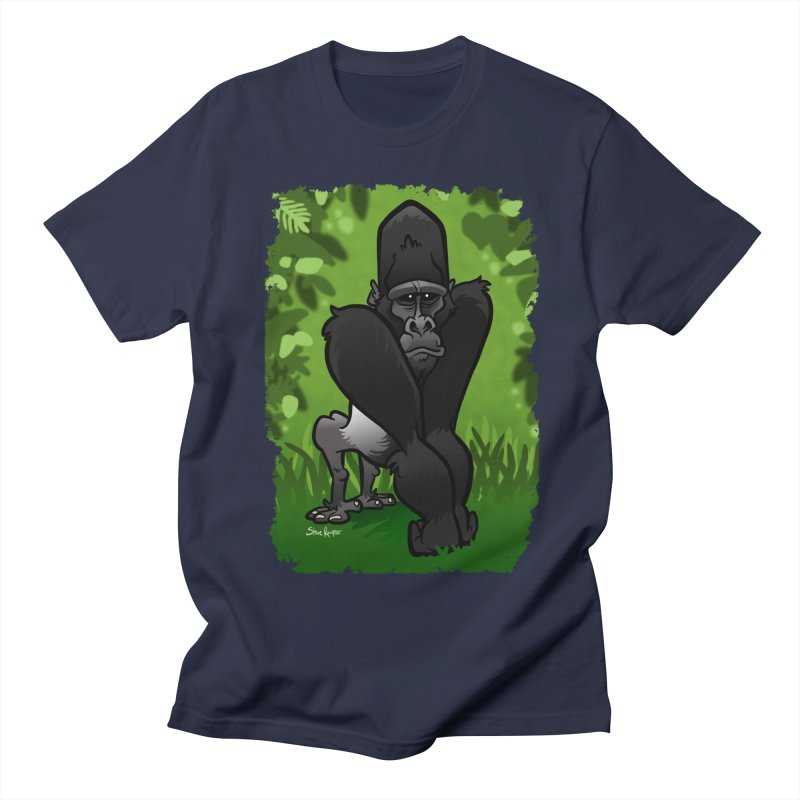 Silverback Gorilla Men's T-Shirt by binarygod's Artist Shop