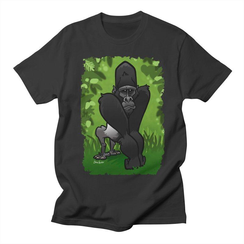 Silverback Gorilla Men's Regular T-Shirt by binarygod's Artist Shop