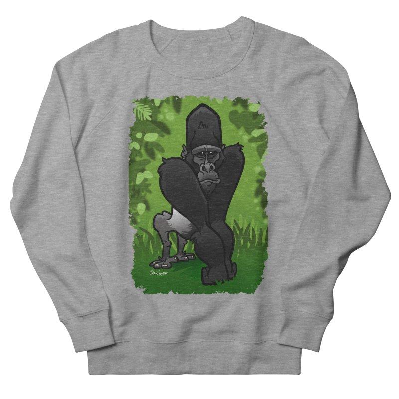 Silverback Gorilla Men's Sweatshirt by binarygod's Artist Shop