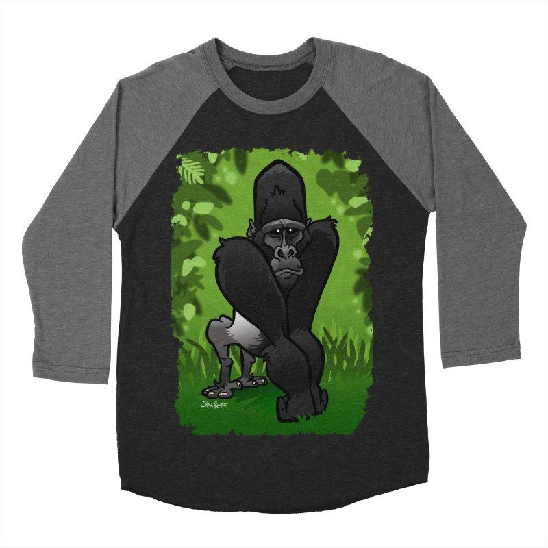 Silverback Gorilla Women's Baseball Triblend Longsleeve T-Shirt by binarygod's Artist Shop
