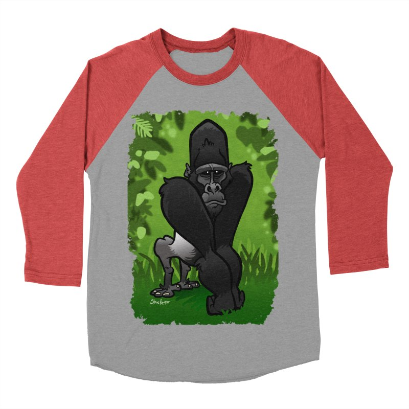 Silverback Gorilla Men's Baseball Triblend Longsleeve T-Shirt by binarygod's Artist Shop