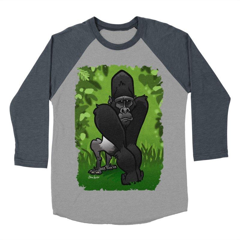 Silverback Gorilla Men's Baseball Triblend Longsleeve T-Shirt by binarygod's Artist Shop
