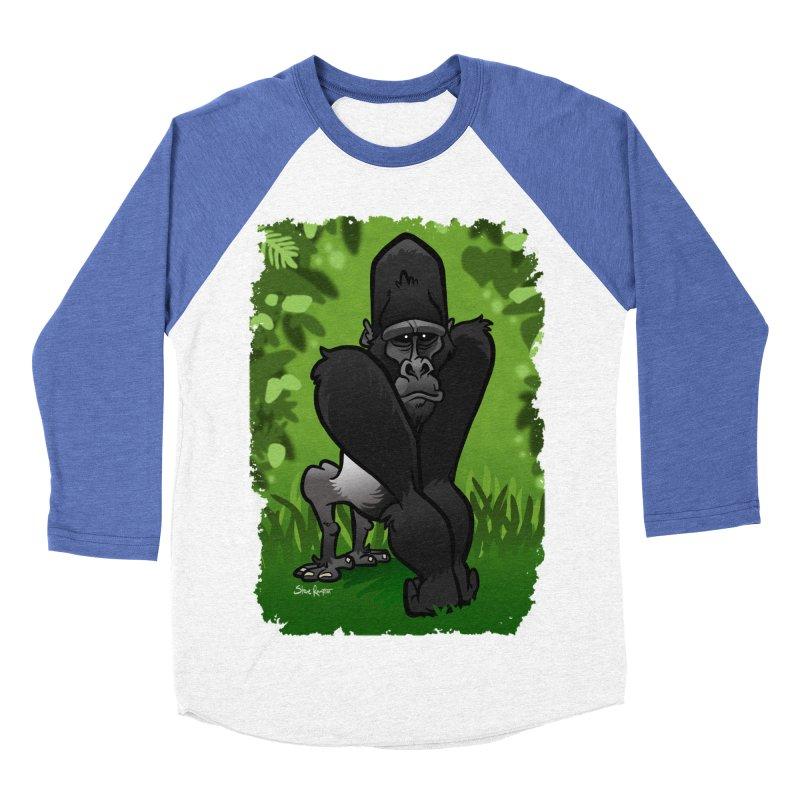 Silverback Gorilla Men's Baseball Triblend T-Shirt by binarygod's Artist Shop