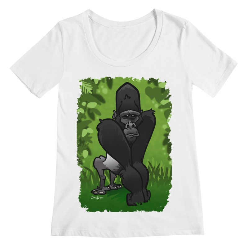 Silverback Gorilla Women's Regular Scoop Neck by binarygod's Artist Shop