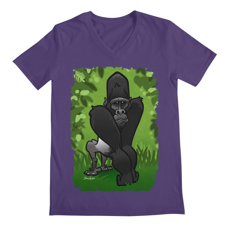 Silverback Gorilla Men's V-Neck by binarygod's Artist Shop